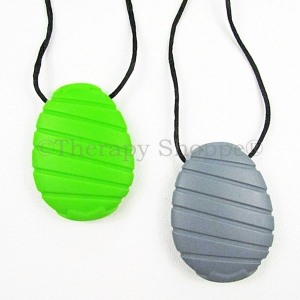 Ribbed Oval Chewy Necklaces