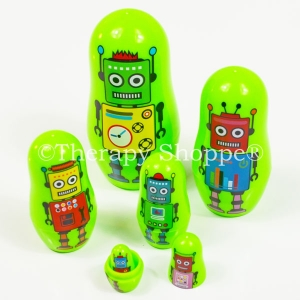 Colorful Robot Nesting Toys