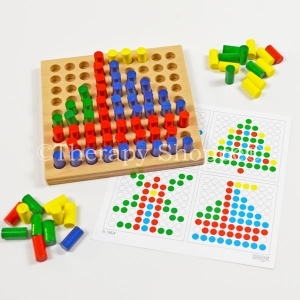 Mini Wooden Pegboard Set
