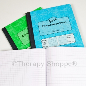 Super Sale Dual Ruled Composition Notebook (Green Sheets)