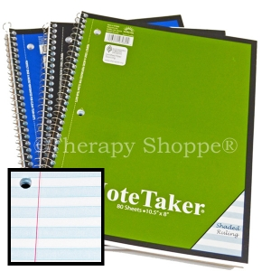 Super Sale Notebook with Shaded Lines
