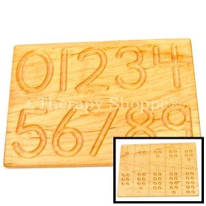 Double-Sided Numbers Wooden Tracing Board