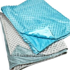 Washable Weighted Blankets with Furry Minkee Covers