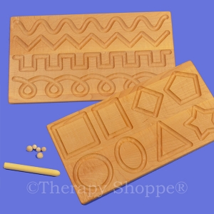 Double-Sided Shapes & Patterns Tracing Board