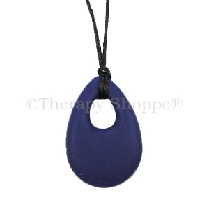 Purple Silky Smooth Oval Chewy Necklace