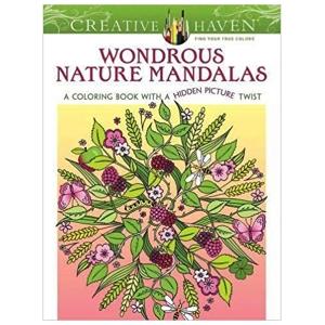 Wondrous Nature Mandalas Coloring Book