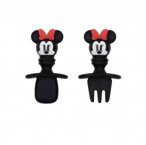 Super Sale Mickey Mouse Bow Silicone Chewtensils