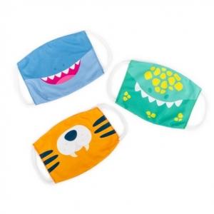 Super Sale Kids Dino, Tiger, Shark Animal Face Masks 3-pk Set