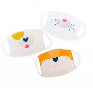 Super Sale Kids Cat, Dog, Bunny Animal Face Masks 3-pk Set