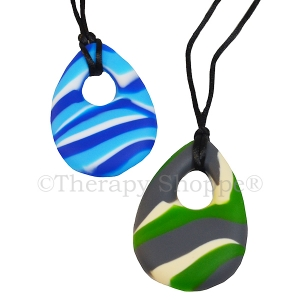 Tie Dye Oval Chewy Necklaces
