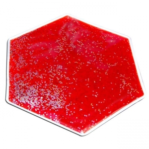 Super Sale Red Weighted Hexagon Gel Lap Pad