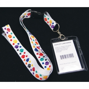 Super Sale Paw Print Lanyard Necklace