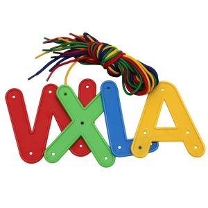 Jumbo Alphabet Letters Lacing Kit