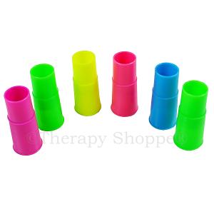 Neon Whizzer Whistles 6-pk