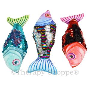 Shimmering Sequins Fidget Fish