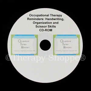 OT Reminders CD for Handwriting, Organization, and Scissor Skills