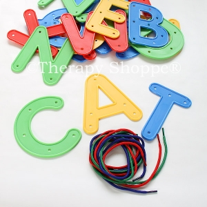 Jumbo Alphabet Letters Lacing Kit