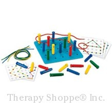 Stringing Pegboard Activity Set